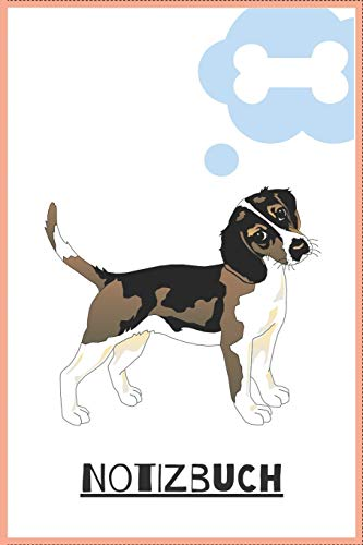 Notizbuch: 120 Seiten / kariert / DIN A5 (6x9) / Hundemotiv #22