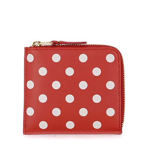 Comme Des Garçons Wallet Comme Des Garçons Wallet Red Polka Dot Leather Wallet Red