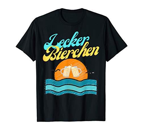Lecker Bierchen Sommer Bier Bierliebhaber Hopfen Party Pils T-Shirt