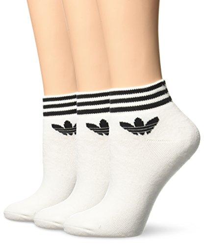 adidas Trefoil Ankle - Calcetines para hombre, color blanco, talla 39-42