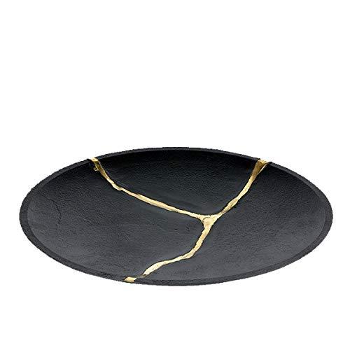 Lambert - Vase - Schale, Obstschale - Kuori - Anthrazit Gold - Maße (ØxH): 34 x 3 cm