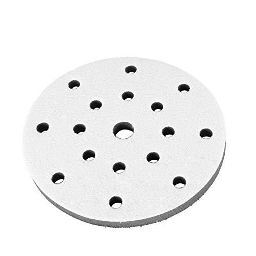 Almohadillas de lijado de esponja suave, función de amortiguación Lijado de tamaño pequeño Almohadilla suave a prueba de sacudidas(6 inch 17 holes)