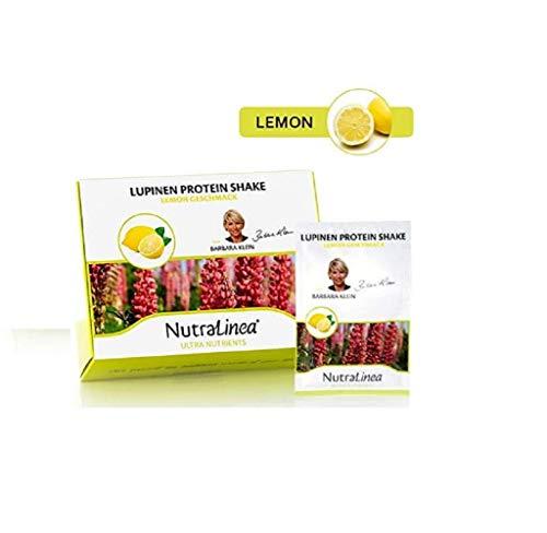 2x Lupinen Protein Shake   LEMON   20 Päckchen à 18g inkl. Eiweiß Löffel   Nahrungsergänzungsmittel mit Süßungsmittel