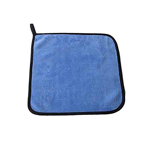 YANGQING QIAOMIN 30x30 / 40/6 0cm Lavado De Coches Toalla De Microfibra Limpieza De Coche Limpieza Secado Paño Hemming Car Paño Detalle Detalle Wash Toalla Azul