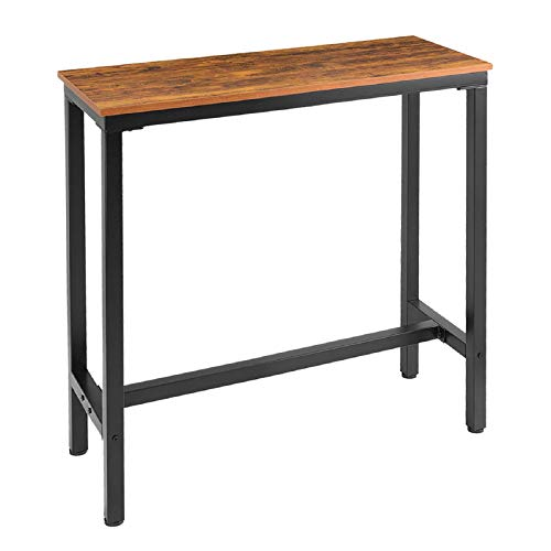 """Mr IRONSTONE 39.4"""" Bar Table Vintage Industrial Pub Dining Height Table Bistro Table (Indoor USE ONLY)"""