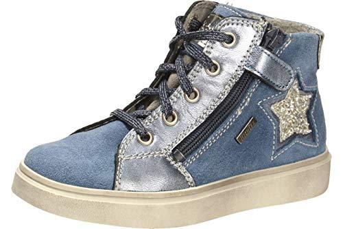 Richter Kinder Halbschuhe Sneaker blau Velourleder Mädchen Schuhe Warm RichTex 2921-641-6631 River Ryana, Farbe:blau, Größe:35