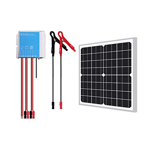 Newpowa 20w Watt 12v Solar Panel + PWM 10a 12v Smart Charging Controller Regulator