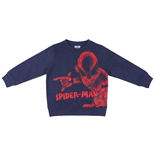 CERDÁ LIFE'S LITTLE MOMENTS 2200006245_T03A-C56 Sudadera de Algodón de Spiderman - Licencia Oficial Marvel, Azul, 3 años Unisex niño
