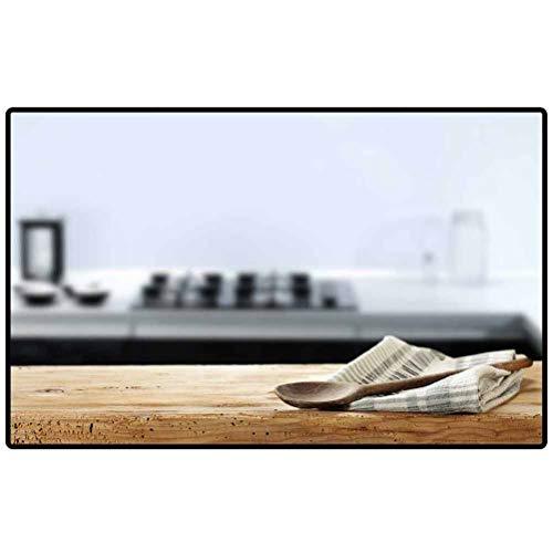RenteriaDecor Floor Mats Wooden Spoon in Kitchen 205127701 Door Mat Kitchen Bathroom Outdoor Porch Living Room
