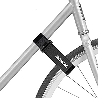 Boncas Adjustable Bike Rack Strap Bicycle Wheel Stabilizer Straps with Innovative Gel Grip Keep The Bicycle Wheel from Spinning - 2 Pack