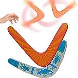 dancepandas Boomerang de Madera 2PCS Boomerang Estable en Forma de V Deportivo de Regreso Maniobra Dardo Juguete Volador para Niños Adultos Al Aire Libre