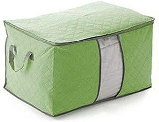 MOPOLIS Storage Box Bag Non-Woven Fabric Home Foldable Room Travel Compact Organization | Color - Green