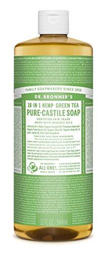 Dr Bronners, Soap Liquid Castile Green Tea Organic, 32 Ounce