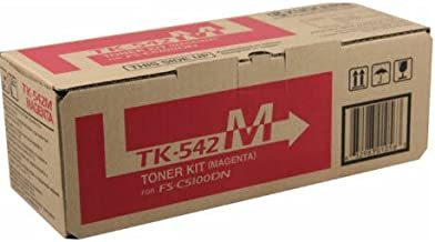 Kyocera 1T02HLBUS0 Model TK-542M Magenta Toner Cartridge For Use With Kyocera FS-C5100DN Color Network Laser Printer, Up To 4000 Pages Yield