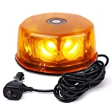 WoneNice 12-24V 48 Watts 8-COB LED Emergenecy Warning Flashing Lights Amber...