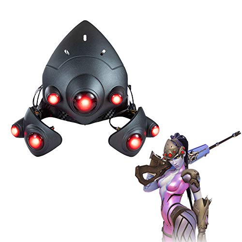 OW Widowmaker Light-up Mask - 1:1 Replica Props Cosplay LED Helmet Halloween Game Anime Costume Accessory
