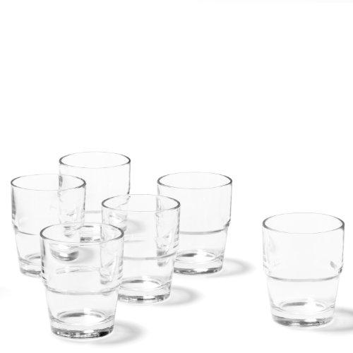 Leonardo Becher Solo, Trink-Glas im modernen Stil, spülmaschinengeeignete Wasser-Gläser, 6-teilig, 200-ml Füllmenge, 043424