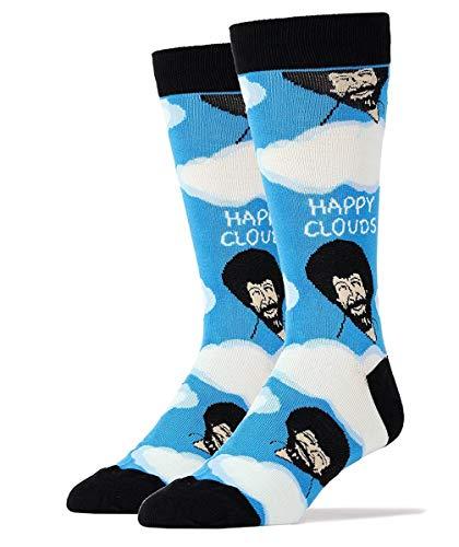 Oooh Yeah Men's Novelty Crew Socks, Exclusive Funny Socks for Bob Ross,...