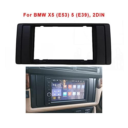 ZHANGWY Yang Store 2 DIN DVD Estéreo Radio Fascia Fit para BMW X5 (E53) 5 (E39) ADPTER Frame Panel Placa Radio Dash Mount Instalación Kit Kit Bisel (Size : 173x98mm)
