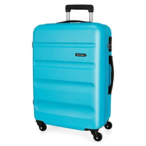 Roll-Road Flex koffer middelgroot, 65 cm, lichtblauw