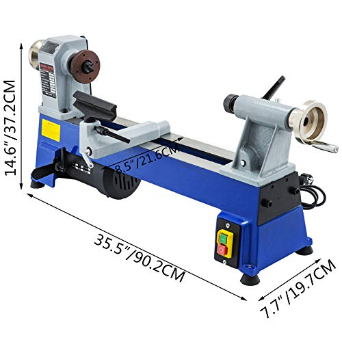 VEVOR MC1018 Woodturning Lathe Variable Speed 500-3200 RPM Mini Wood Lathe 457MM Woodworking DIY Lathe Machine for Outdoor & Home Hobby Work Engraving & Grinding
