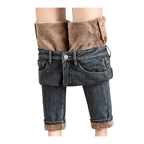 Gefüttert-Jeans Damen Winter-Gefüttert...