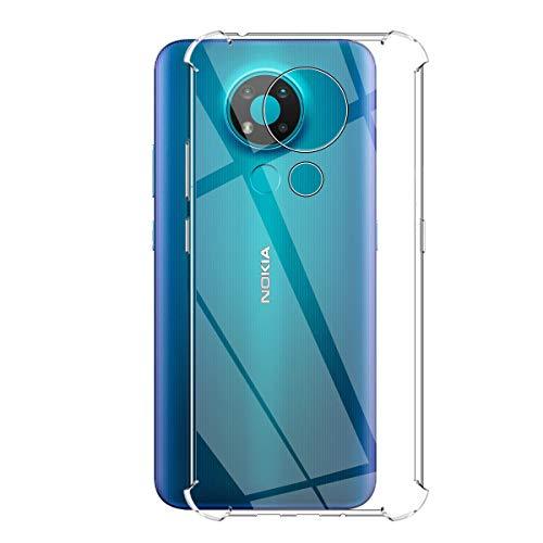 GEEMEE per Nokia 3.4 Custodia, Morbido Cristallo Silicone Custodie Protettivo TPU Case, Anti-Scratch, Shock-Absorption, Protettiva Sottile Back Cover