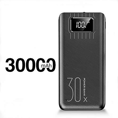 SACYSAC Draagbare mobiele voeding 30000mAh grote capaciteit snelle oplader geschikt voor smartphones, tablets en meer apparaten