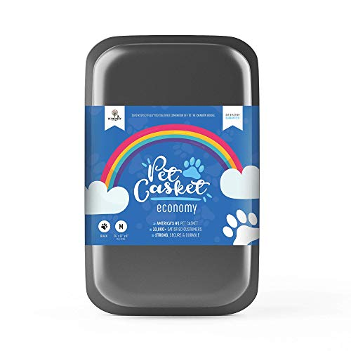 Pet Memory Shop Pet Casket - Caring Pet Loss Coffin, Choose from 2 Colors & Styles, Pet Memorial Box, for Dogs, Cats, and Animals, Perfect for Pet Loss Burial (Small, Black)