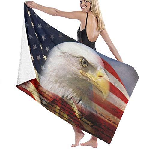 Toalla de baño de águila de la bandera americana, toallas de baño, súper absorbentes, toallas de baño para el gimnasio, playa, spa de natación