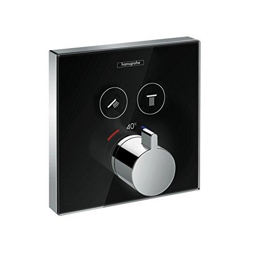 hansgrohe ShowerSelect Unterputz Thermostat, für 2 Funktionen, Schwarz