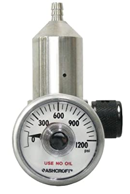 """GASCO 70-0.25 Brass/ Nickel Plated 0.25 LPM High Pressure Regulator for 34L 44L 58L 66L 103L and 116L Cylinders, 2"""" Height, 0.5"""" Width, 3"""" Length by Gasco Affiliates, LLC"""