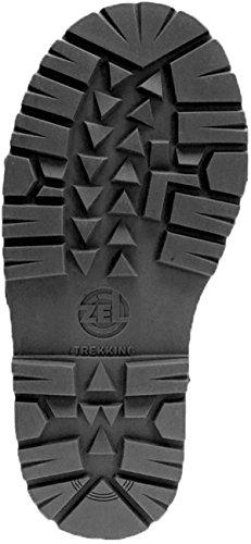 Schuhreparatur Langsohle Trekking grobes Profil schwarz Wanderschuhe Trekkingschuhe (305 x 135 mm)