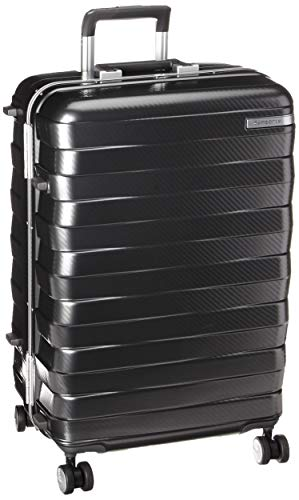 Samsonite Framelock Hardside Expandable with Spinner Wheels, Dark Grey, Checked-Medium 25-Inch