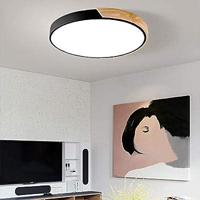 LITFAD Ceiling Light Macaron Modern Acrylic Round Flush Mount LED Ceiling Lamp in White Light for Kids Bedroom Living Room Restaurant
