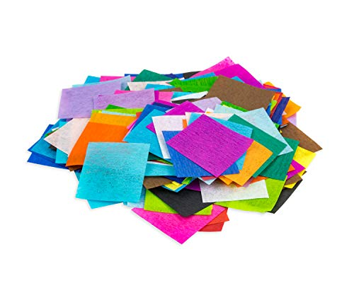 Hygloss Products Mosaic Bleeding Tissue Paper Squares 1 inch x 1 inch-for Arts & Crafts, DIY Projects, Classroom Activities & Much More, 1-Inch, 20 Assorted Colors-2400