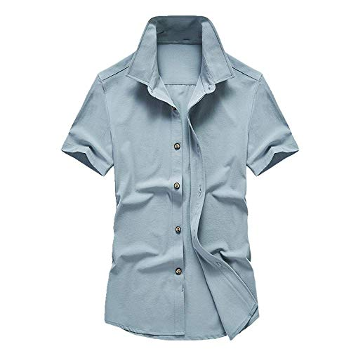 NOBRAND - Camisa de manga corta para hombre de manga corta C XL