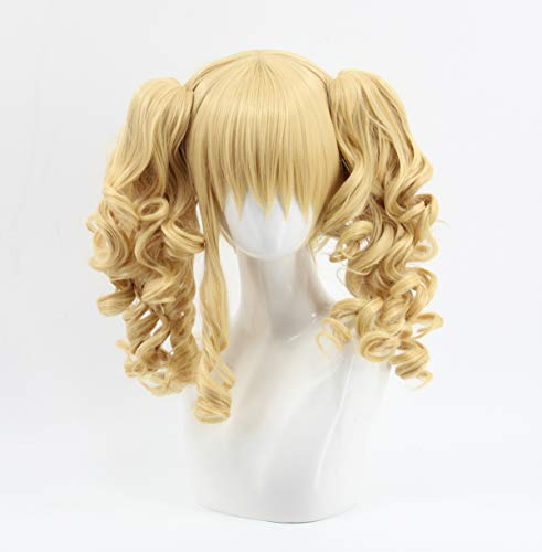 SpeedBeauty Anime Black Butler Elizabeth Blonde Ponytail Curly Cosplay Wig