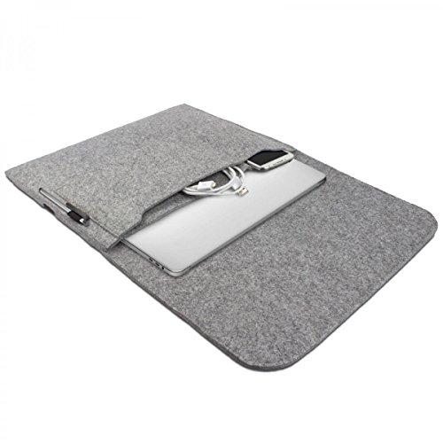 eFabrik Feltro Custodia per Apple MacBook PRO 13  2016 Caso (13,3 Pollici) Notebook Custodia di Protezione Ultrabook Sleeve Cover Laptop Grigio