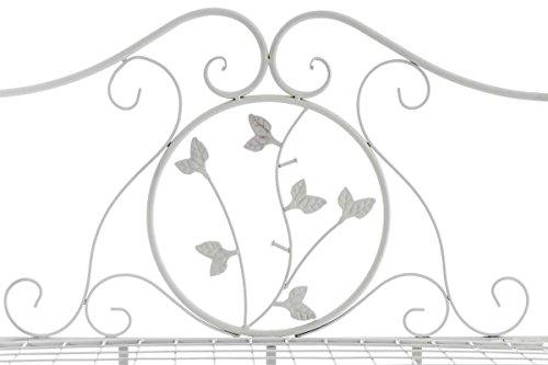 CLP Solida Étagère Reus in Ferro – Scaffale Espositore Richiudibile – Scaffale Mensola 3 Ripiani per Fiori e Piante Aromatiche – Étagère Shabby Chic Verniciata a Polvere Bianco Antico