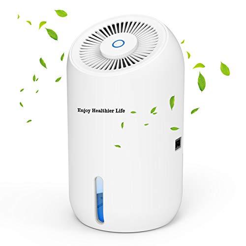 Luftentfeuchter Elektrisch, Orthland Entfeuchter Raumentfeuchter Dehumidifier 900ml mit RGB-Beleuchtung für Räume bis 20㎡, Ultra Leise Lufttrockner für Schlafzimmer Badezimmer Keller Schrank Büro