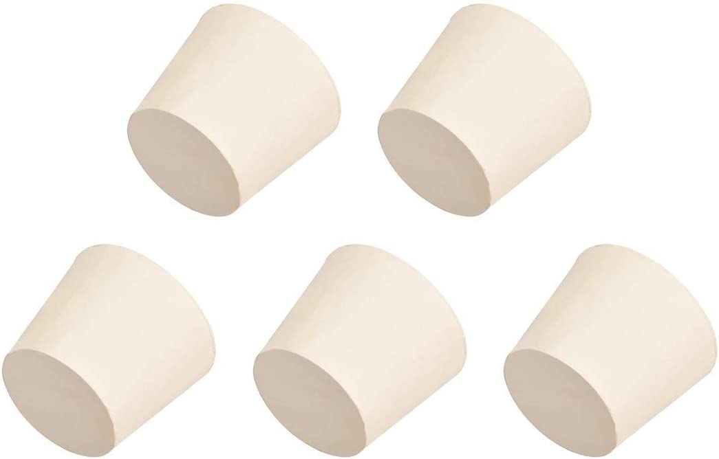 White NEW Ranking TOP9 before selling ☆ Cone Shape Strong Rubber Stopper Size 7 Tub Laboratory for