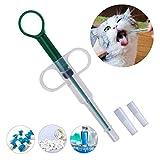 Kuiji alimentador Reutilizable Seguro para medicinas, jeringas de Silicona para Mascotas, dispensador de píldoras, Herramienta de alimentación para Perros, Gatos y Animales