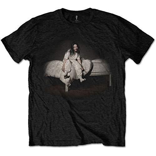 Billie Eilish Billiets11mb02 Camiseta, Negro, M para Hombre