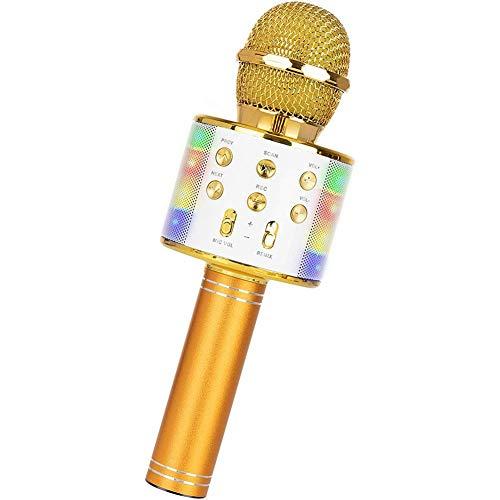 XHHH Wireless Microphone, Bluetooth Karaoke Microphone, 5-in-1...
