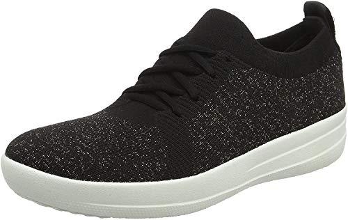 FitFlop F-Sporty Uberknit Sneakers-Metallic, Zapatillas para Mujer