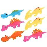 TOYANDONA 6 Piezas Tirachinas de Dinosaurio, Juguetes de Dinosaurios Elásticos Tirachinas de Animales de Goma Tirachinas con Dedos Divertidos Juguetes de Dinosaurios Voladores para