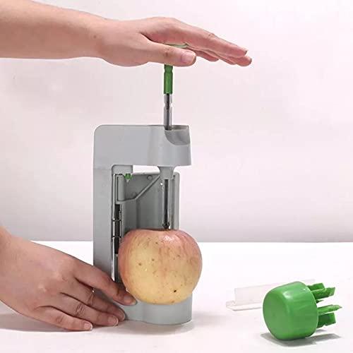 PPuujia Cortadora de cebolla para verduras, frutas manuales, multifunción, seguridad rápida, peladora de hojas redondas, peladora de patatas y manzanas (color: 22,5 x 10,5 x 5,5 cm)
