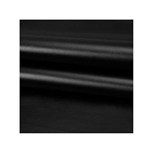 WEIYV-gang Kunstleder Leder Meterware,Lederimitat,Ideal für Eckbank Sofa überzug Dekostoff Stühle Sofa Polsterstoff Möbelstoff Bezugstoff Polsterbezug,100x138cm(Color:01-Black)