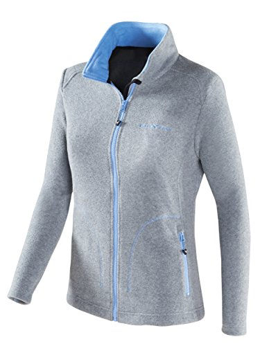 Black Crevice Damen Fleecejacke, Silver, 42